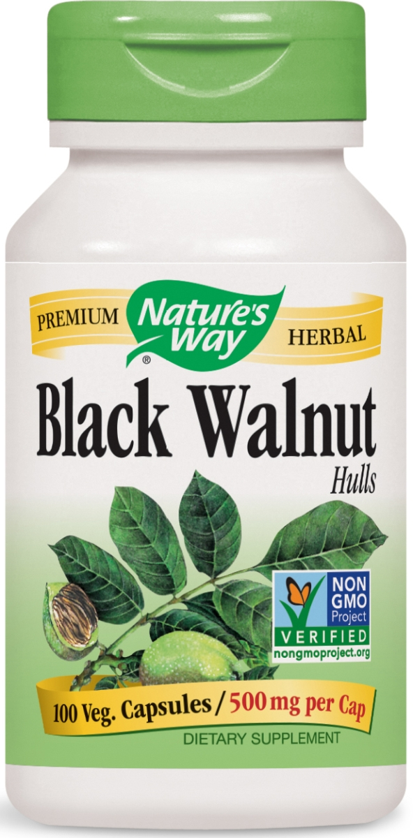 Black Walnut Hulls 500 mg 100 caps by Nature's Way