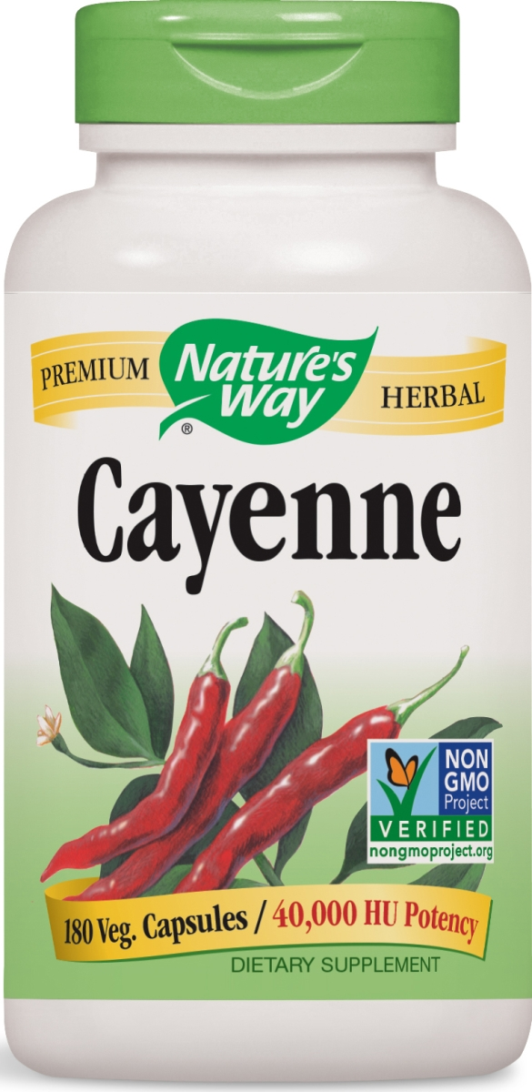 Cayenne 450 mg 180 caps by Nature's Way