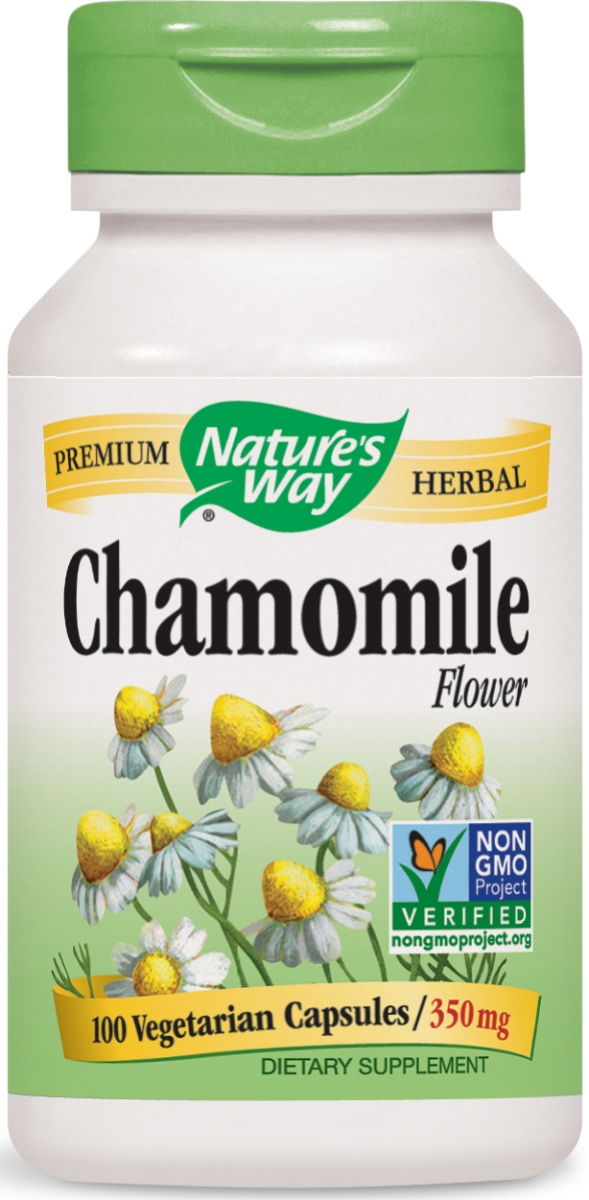 Chamomile Flowers 350 mg 100 caps by Nature's Way
