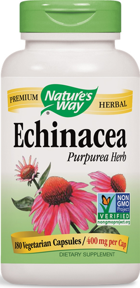 Echinacea Purpurea Herb 400 mg 180 caps by Nature's Way