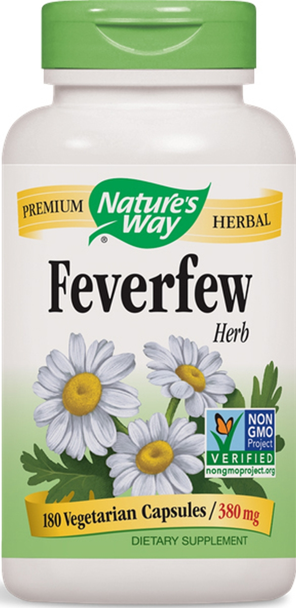 Feverfew Leaves 380 mg 180 caps by Nature's Way