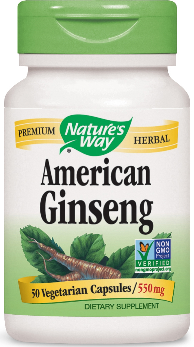 American Ginseng Root 550 mg 50 caps by Nature's Way