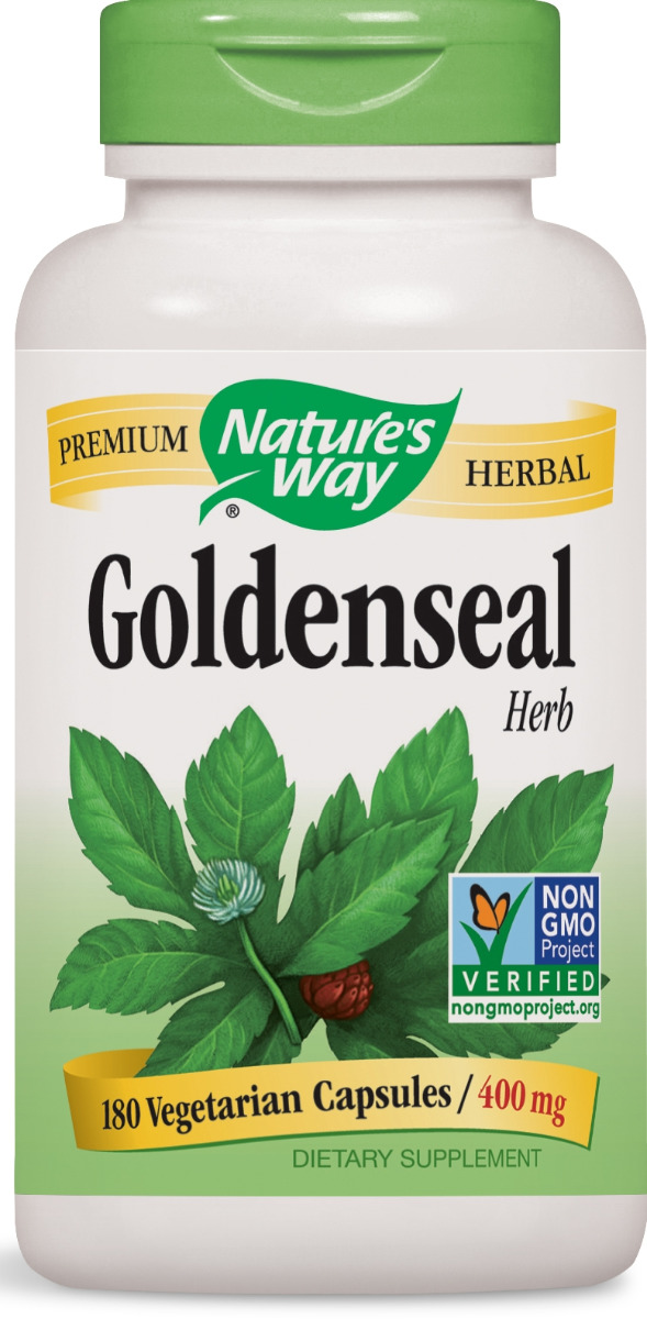 Goldenseal Herb 400 mg 180 caps by Nature's Way
