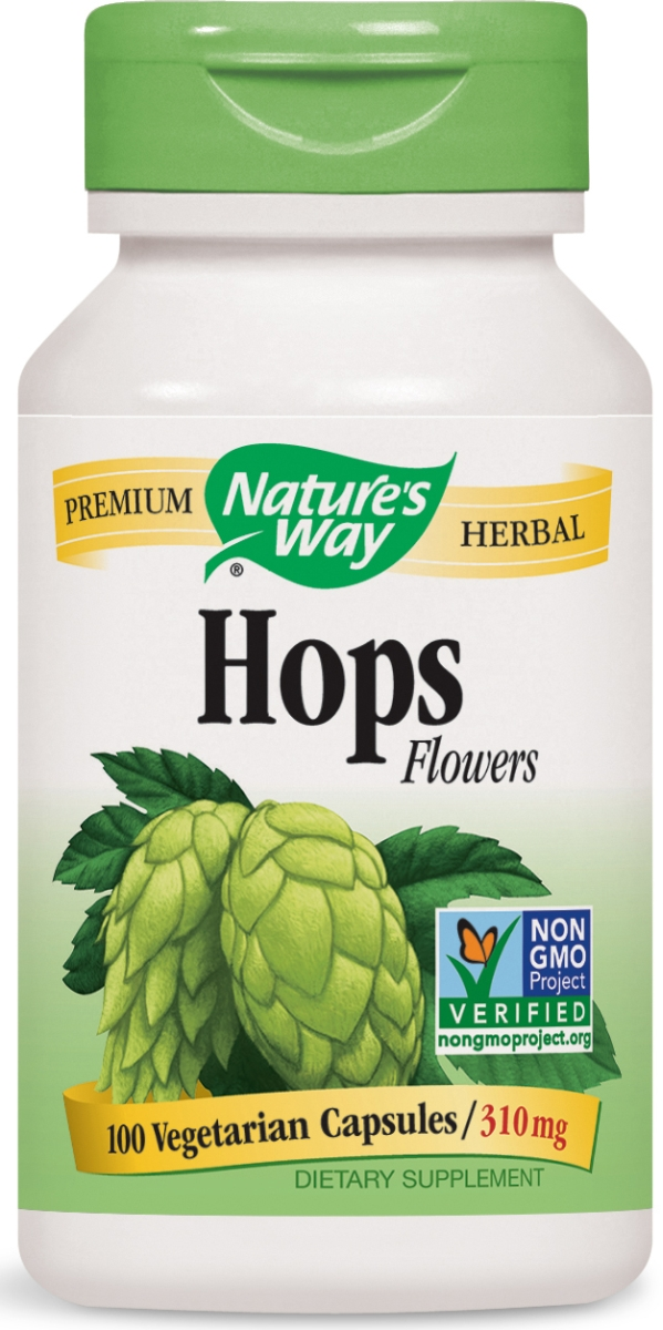 Hops Flowers 310 mg 100 caps by Nature's Way