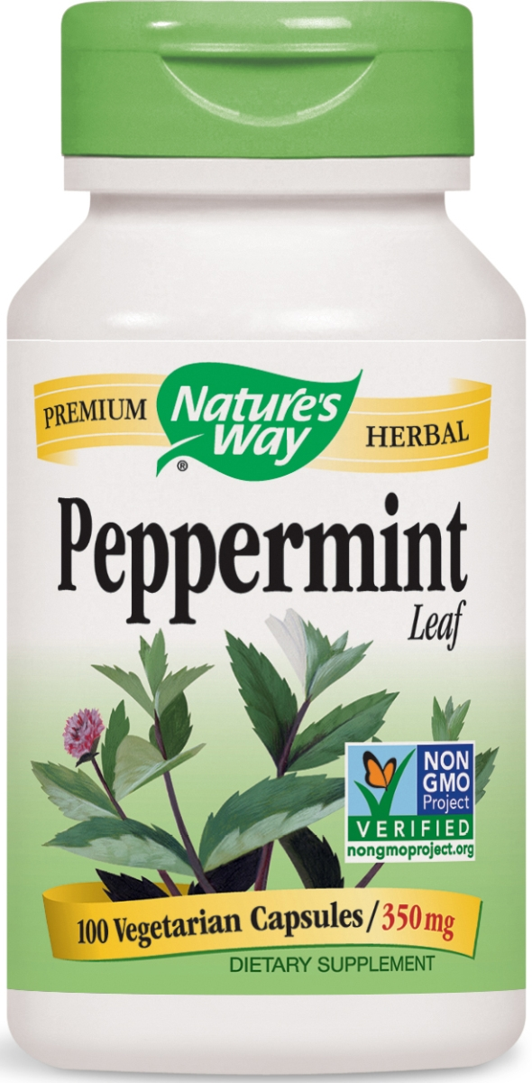 Peppermint Leaves 350 mg 100 caps by Nature's Way