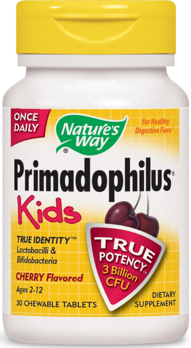 Primadophilus Kids Cherry Flavor Chewables 30 tabs by Nature's Way