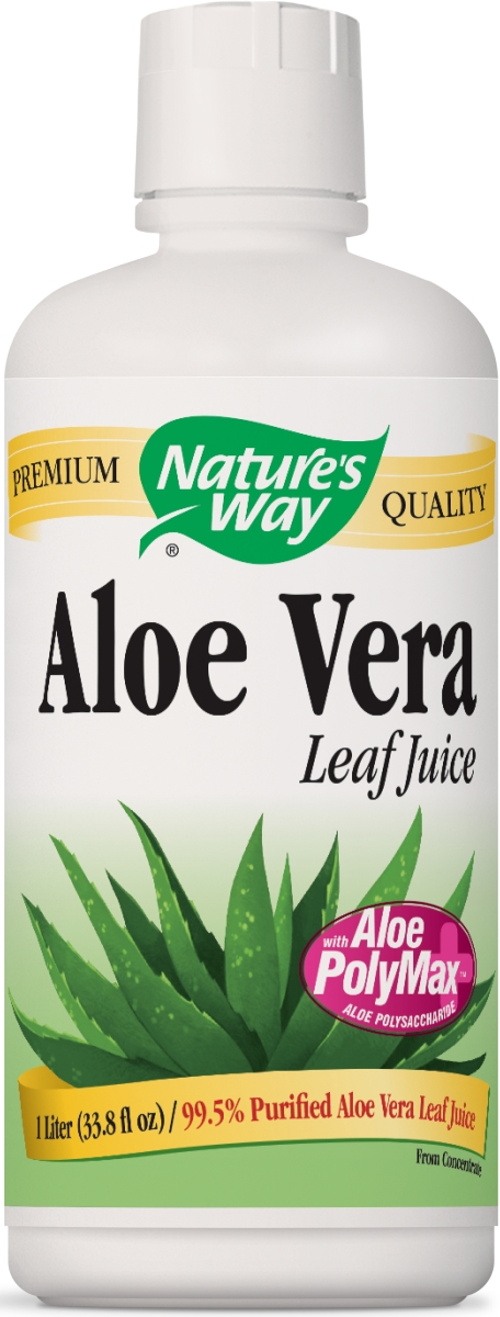 Aloe Vera Whole Leaf Juice 1 Liter (33.8 fl oz) by Nature's Way
