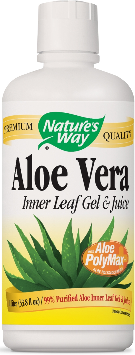 Aloe Vera Gel & Juice 1 Liter (33.8 fl oz) by Nature's Way