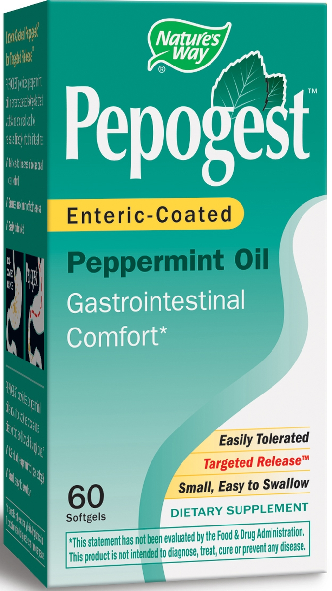 Pepogest Peppermint Oil 60 sgels by Nature's Way