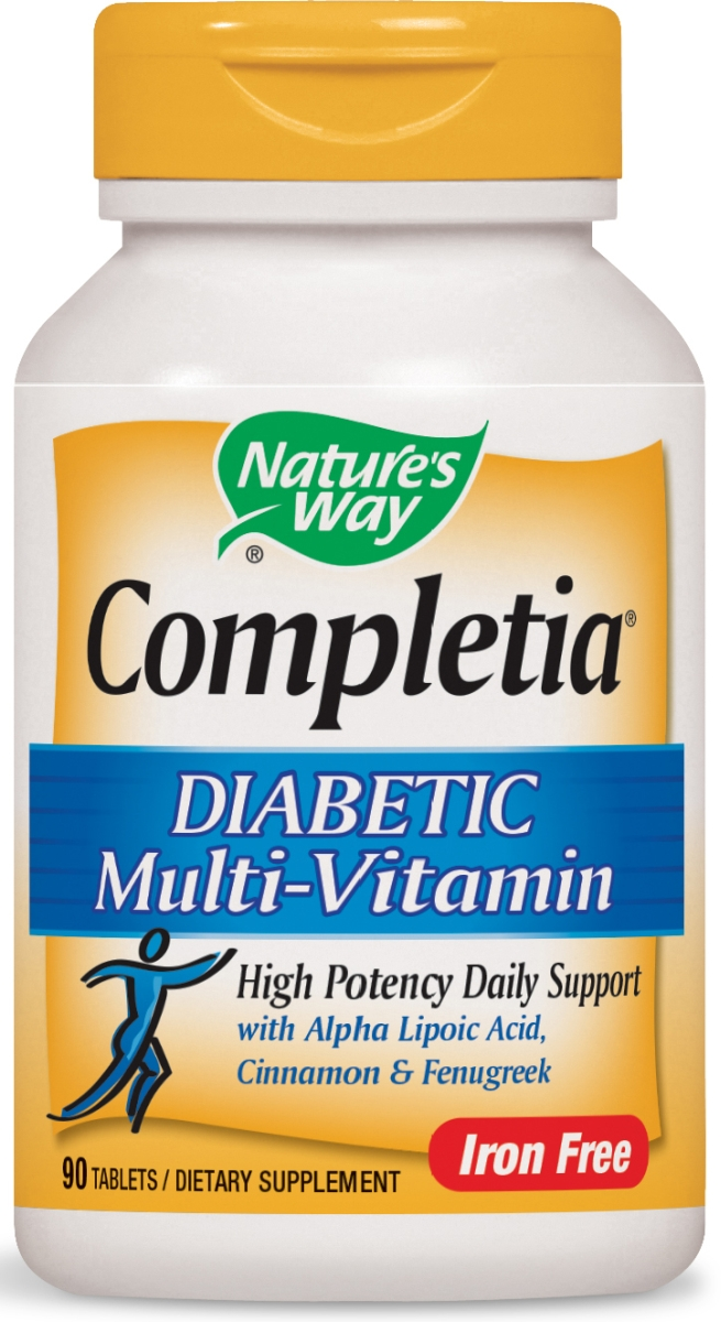 Completia Diabetic Multivitamin Iron Free 90 tabs by Nature's Way