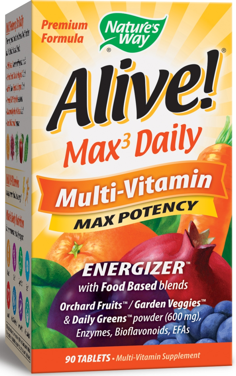 Alive! Multi-Vitamin Max Potency 90 tabs by Nature's Way