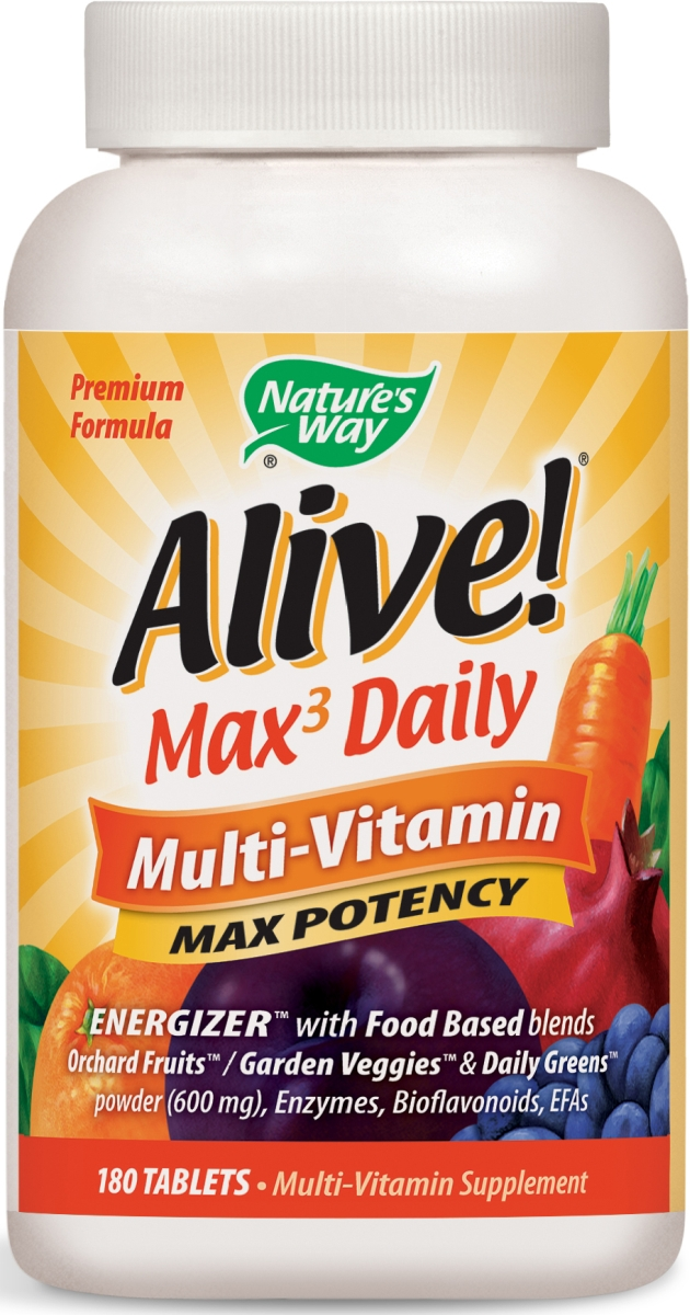 Alive! Multi-Vitamin Max Potency 180 tabs by Nature's Way (expires 02/2015)
