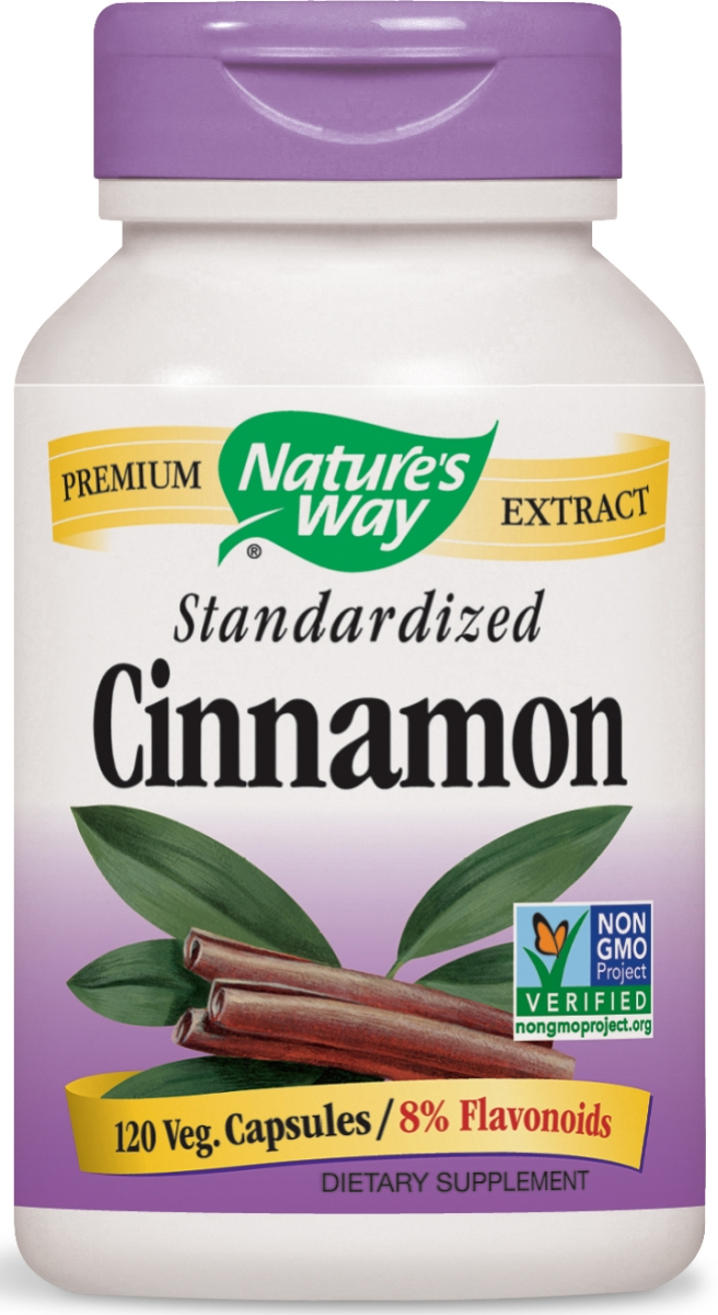 Cinnamon Standardized Extract 120 Vcaps by Nature's Way