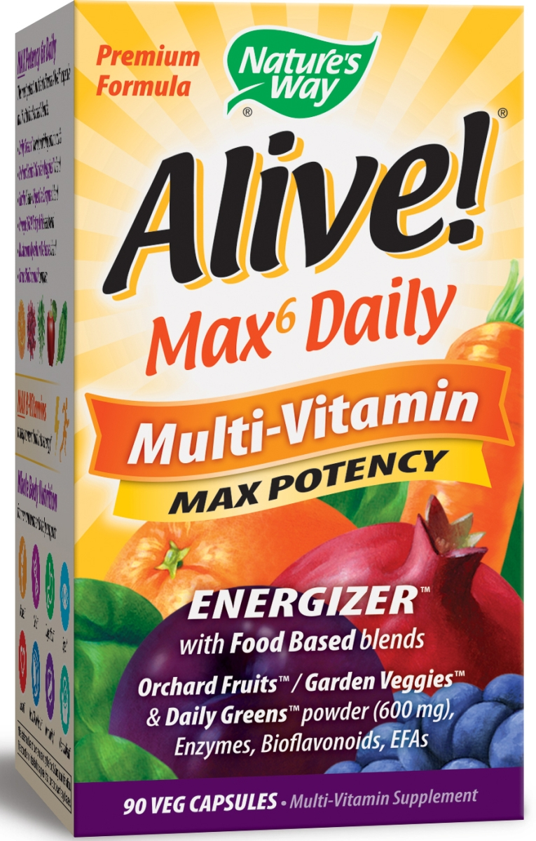 Alive! Multi-Vitamin Max Potency 90 Vcaps by Nature's Way