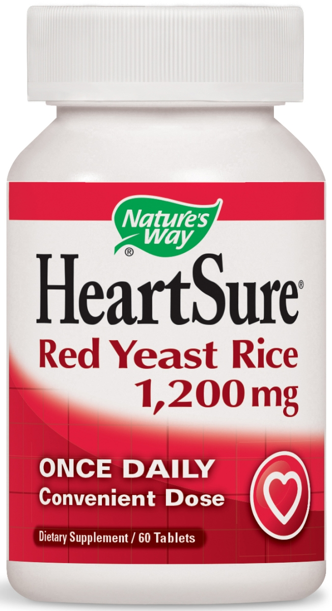 HeartSure Red Yeast Rice 1200 mg 60 tabs by Nature's Way