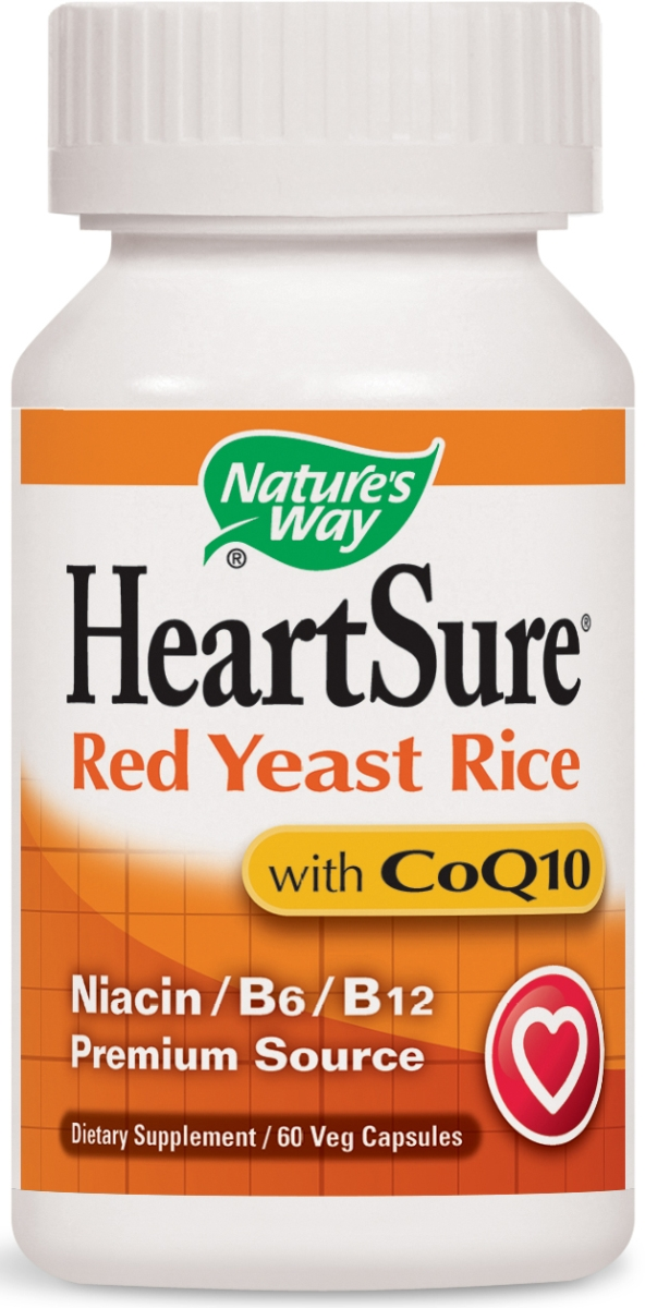 HeartSure Red Yeast Rice Plus CoQ10 60 Vcaps by Nature's Way