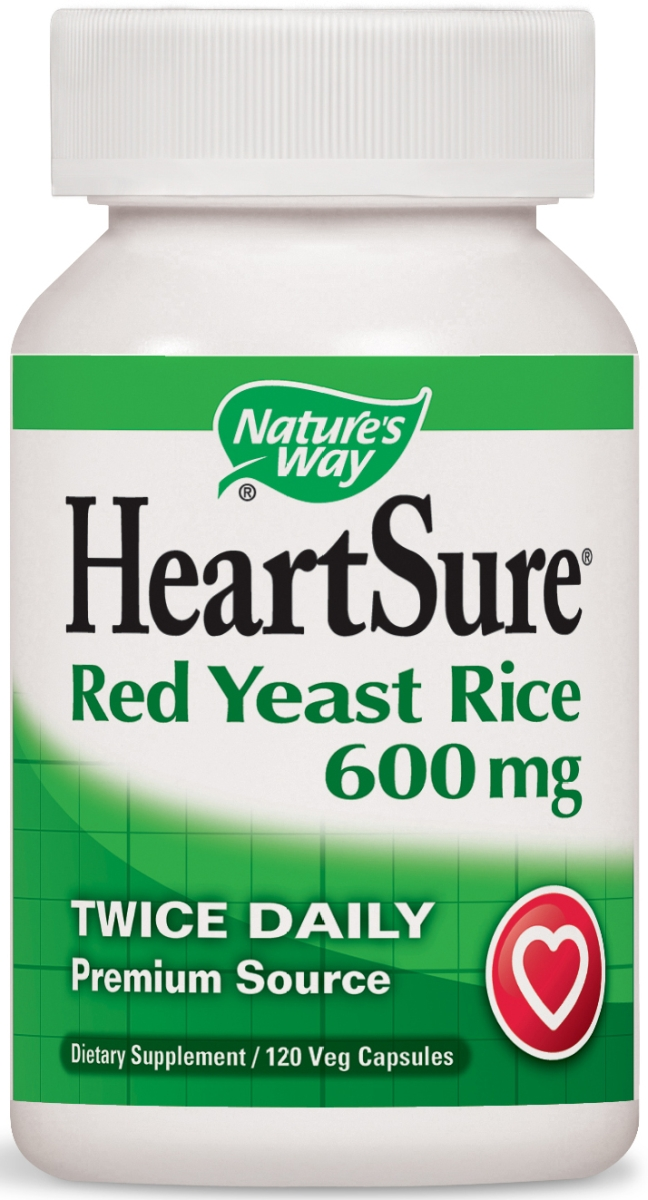 HeartSure Red Yeast Rice 600 mg 120 Vcaps by Nature's Way