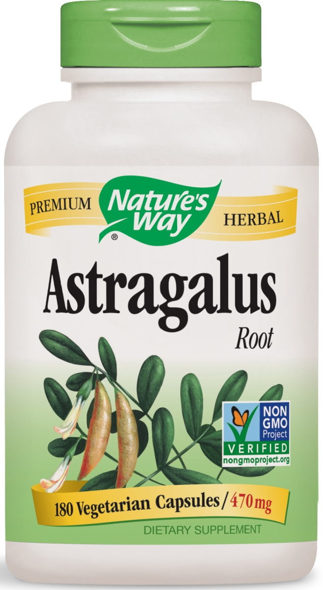 Astragalus Root 470 mg 180 Vcaps by Nature's Way