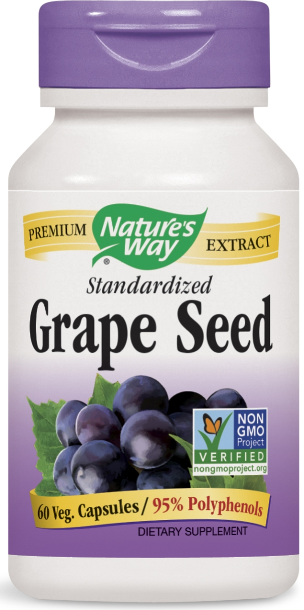 Grape Seed Standardized Extract 60 Vcaps by Nature's Way