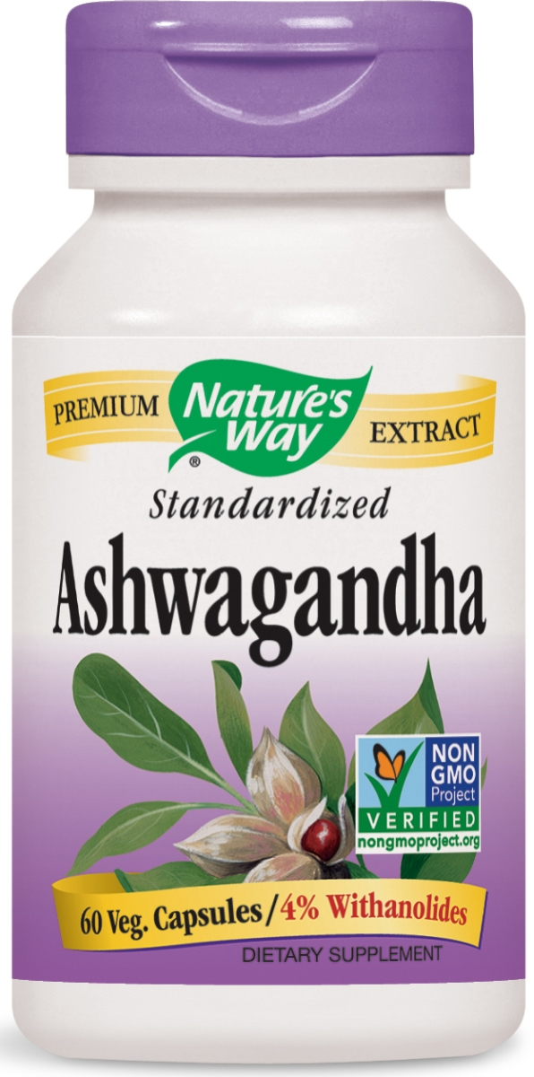 Ashwagandha Standardized Extract 60 Vcaps by Nature's Way
