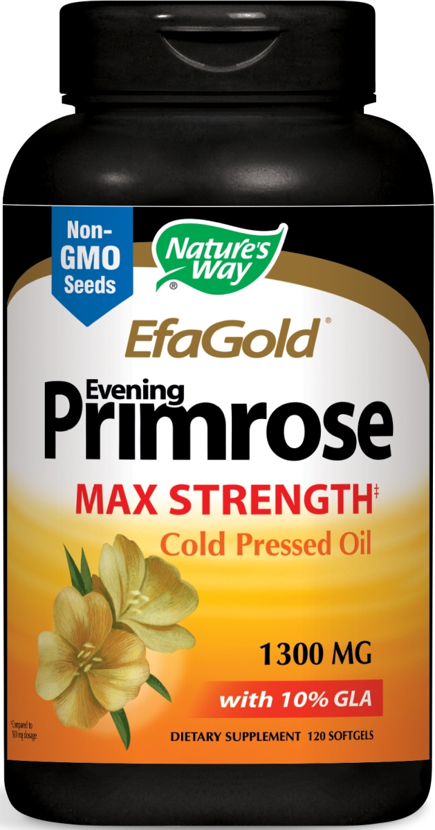 EfaGold Evening Primrose High Potency 1300 mg 120 sgels by Nature's Way