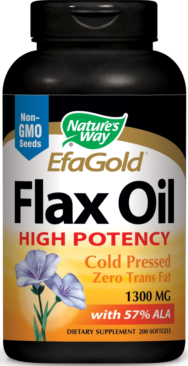 EfaGold Flax Oil High Potency 1300 mg 200 sgels by Nature's Way