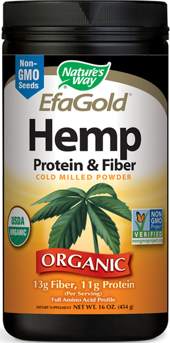 EfaGold Hemp Protein & Fiber Powder 16 oz (454 g) by Nature's Way