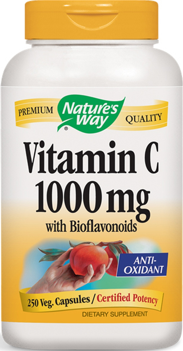 Vitamin C-1000 with Bioflavonoids 250 Vcaps by Nature's Way