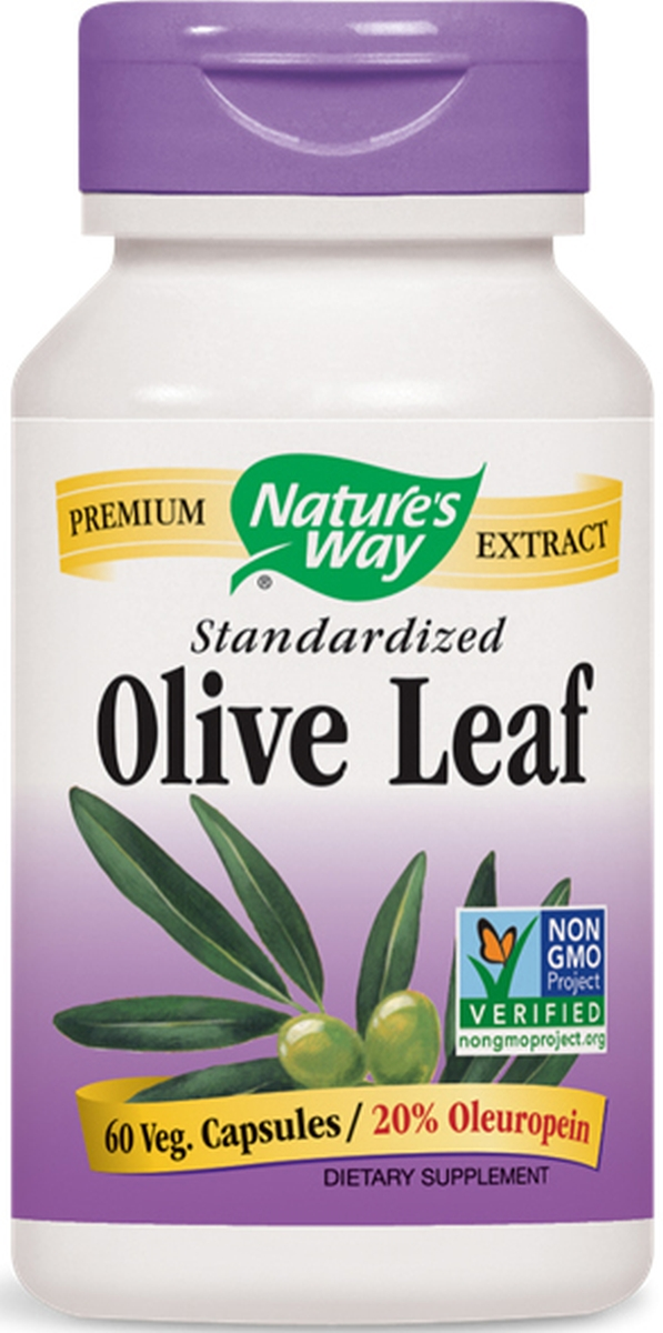 Olive Leaf Standardized Extract 20% Oleuropein 60 Vcaps by Nature's Way