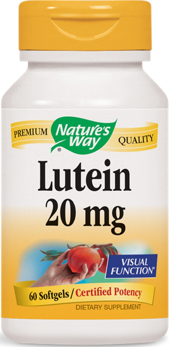 Lutein 20 mg 60 sgels by Nature's Way