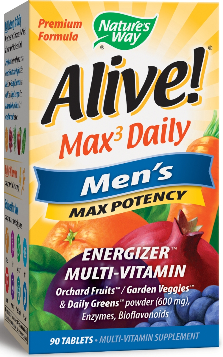 Alive! Men's Multi Max Potency 90 tabs by Nature's Way