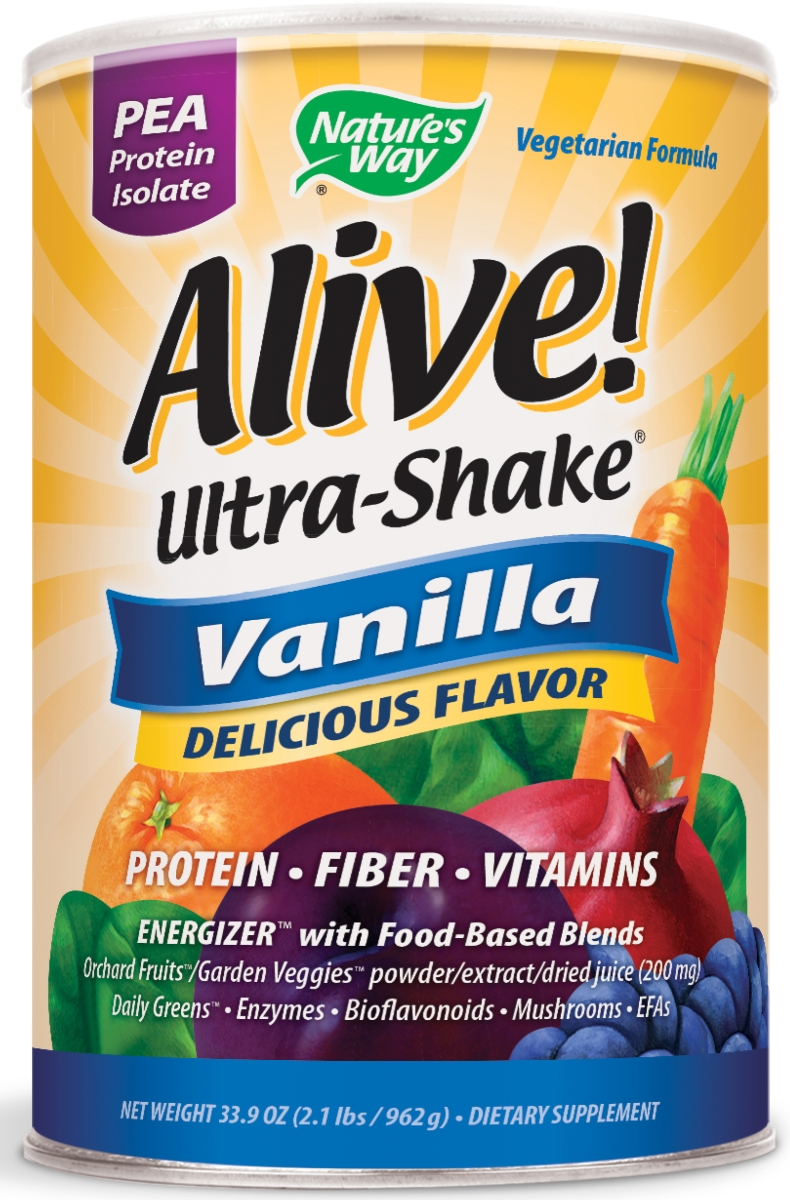 Alive! Ultra-Shake Pea Protein Vanilla Flavor 34 oz (975 g) by Nature's Way