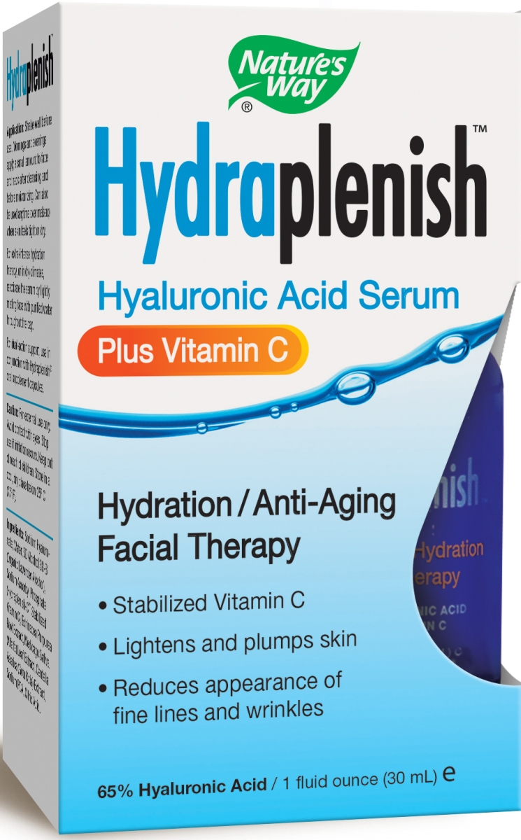 Hydraplenish Hyaluronic Acid Serum plus Vitamin C 1 fl oz (30 ml) by Nature's Way
