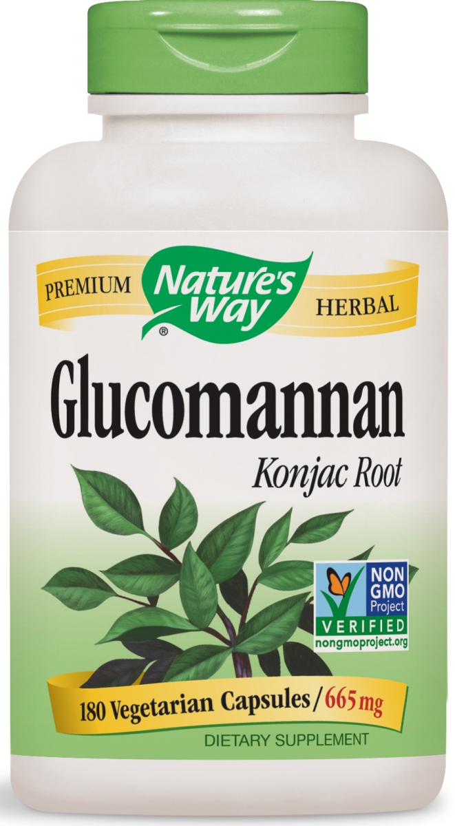 Glucomannan Root 665 mg 180 Vcaps by Nature's Way