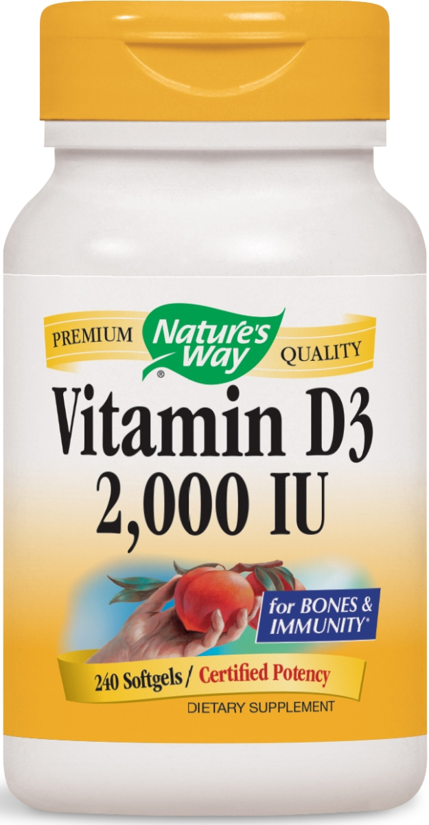 Vitamin D3 2,000 IU 240 sgels by Nature's Way