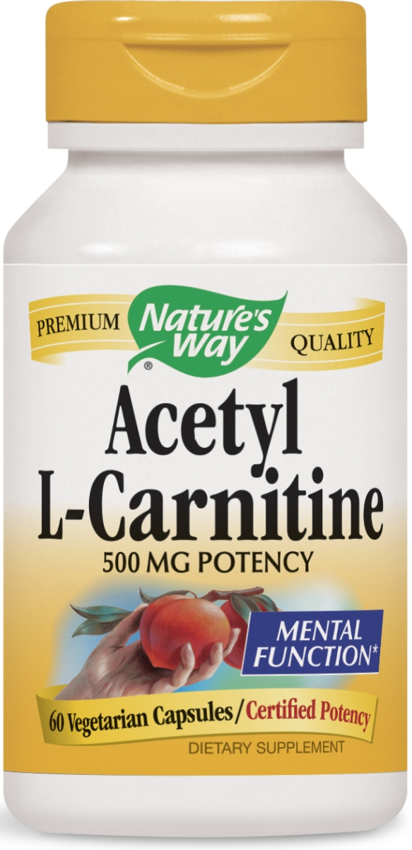 Acetyl L-Carnitine 500 mg 60 Vcaps by Nature's Way
