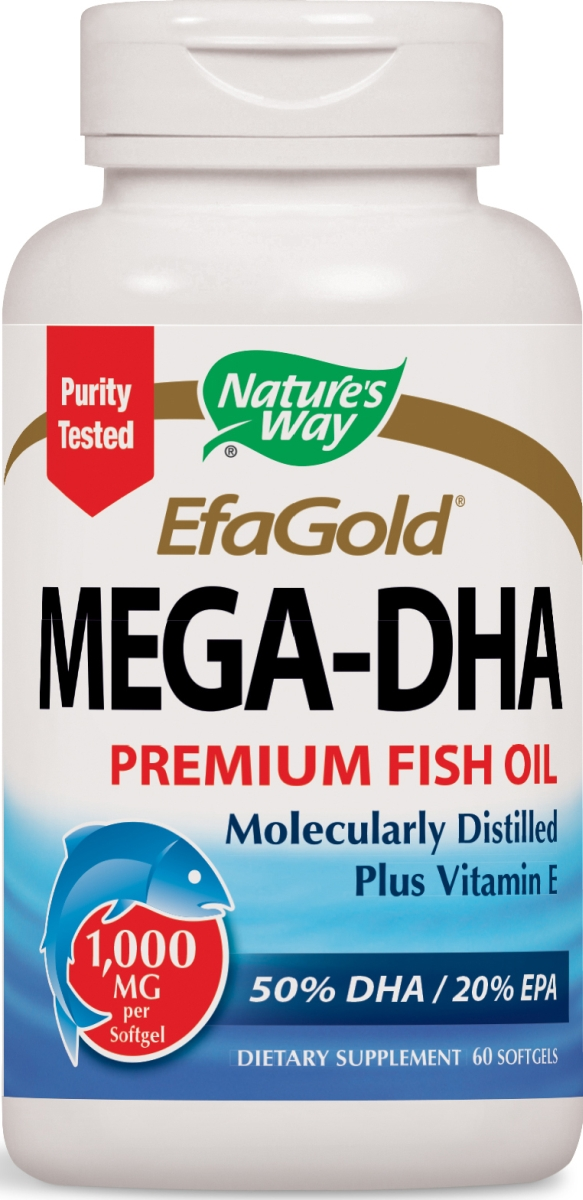 EfaGold Mega-DHA 1000 mg 60 sgels by Nature's Way