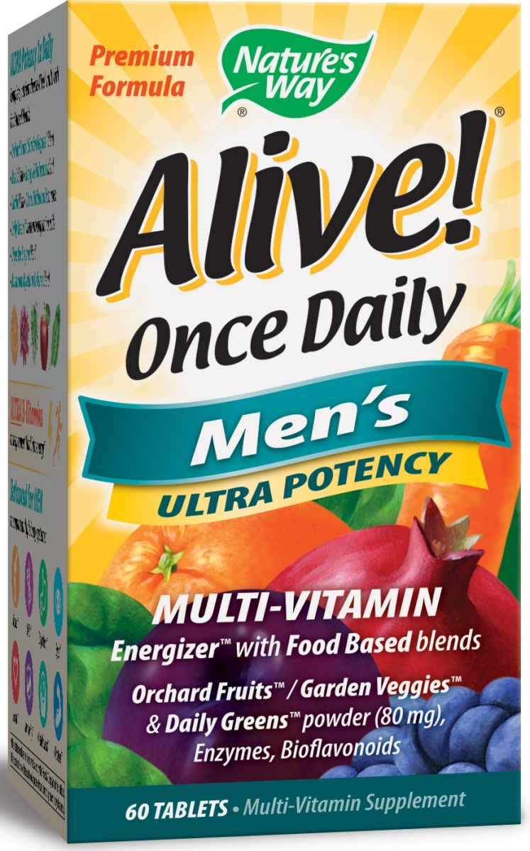 Alive! Once Daily Men's Ultra Potency Multi-Vitamin 60 tabs by Nature's Way