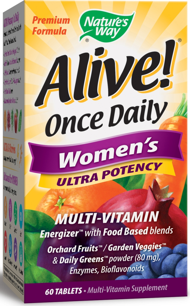 Alive! Once Daily Women's Ultra Potency Multi-Vitamin 60 tabs by Nature's Way