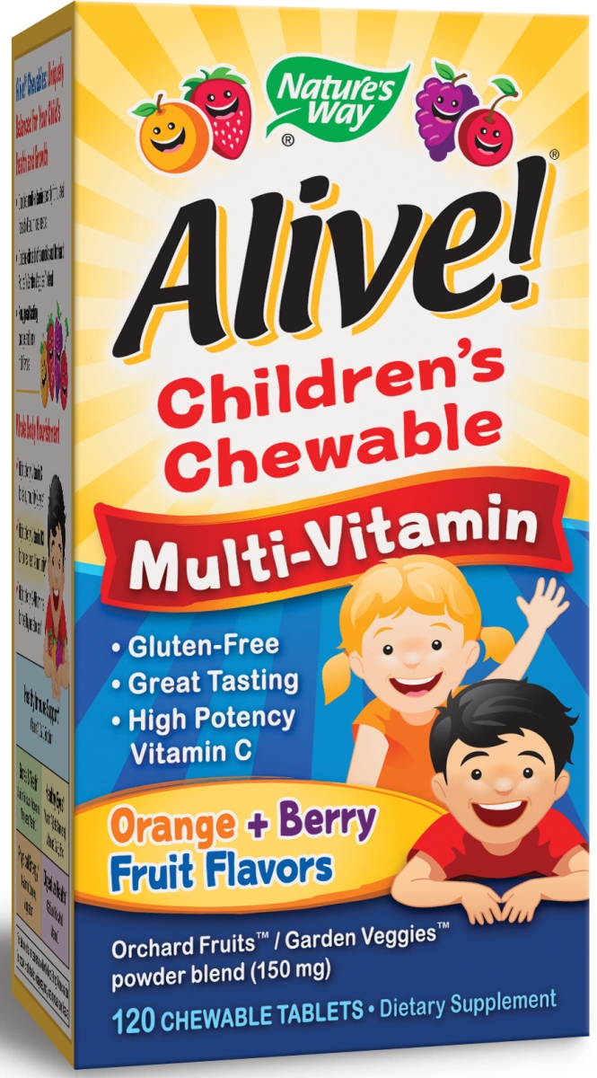 Alive! Children's Chewable Multi-Vitamin 120 Chewable tabs by Nature's Way