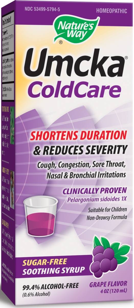 Umcka ColdCare Sugar-Free Soothing Syrup Grape Flavor 4 fl oz