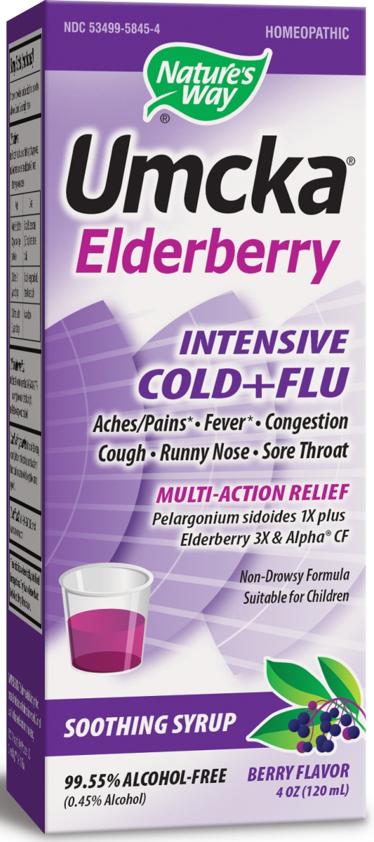 Umcka Elderberry Intensive Cold & Flu Berry Flavor 4 oz  (120 ml) by Nature's Way
