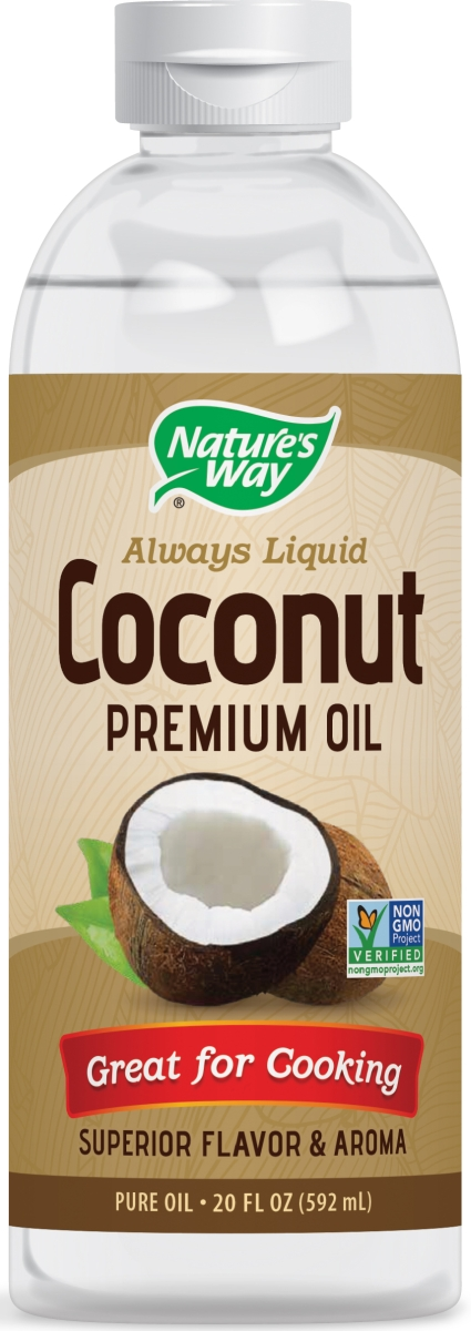 Liquid Coconut Premium Oil 20 fl oz (592 ml) by Nature's Way