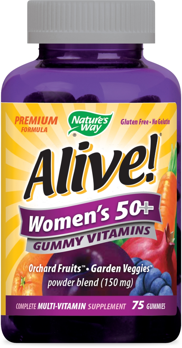 Alive! Women's 50+ Gummy Vitamins 75 Gummies by Nature's Way