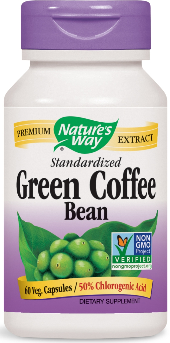 Green Coffee Bean Standardized Extract 500 mg 60 Vcaps by Nature's Way