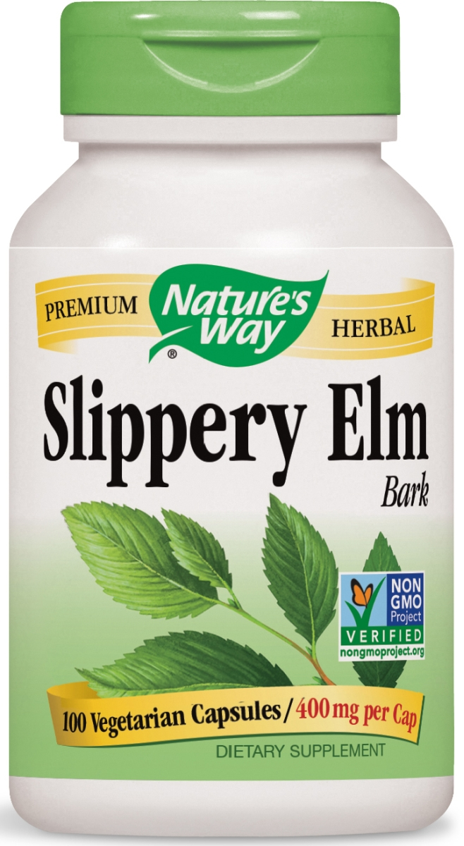 Slippery Elm Bark 400 mg 100 caps by Nature's Way