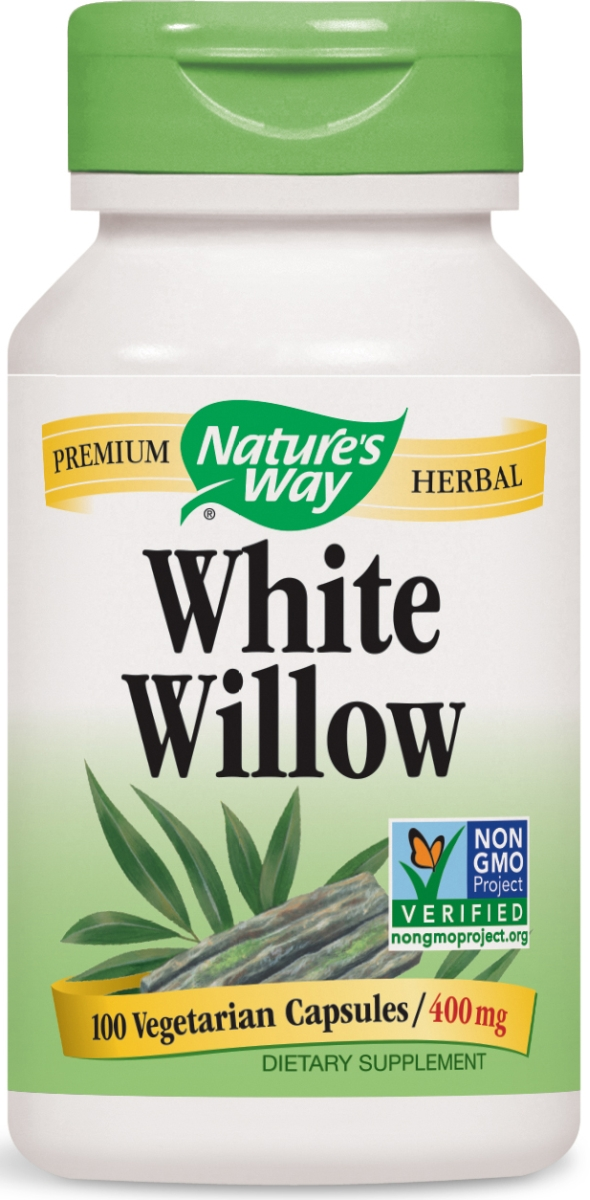 White Willow Bark 400 mg 100 caps by Nature's Way