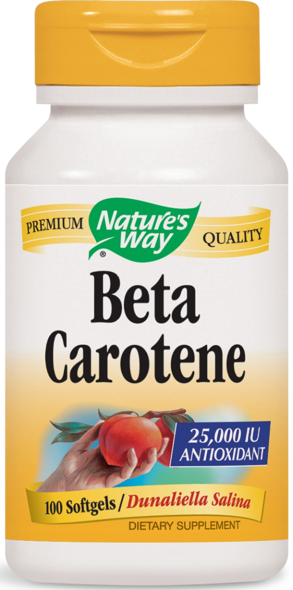 Beta Carotene 25,000 IU / D. Salina 100 sgels by Nature's Way