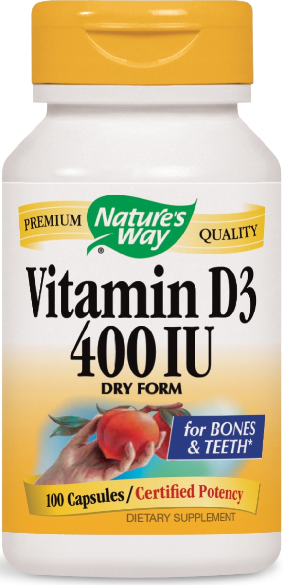 Vitamin D-400 Natural Dry Form 100 caps by Nature's Way
