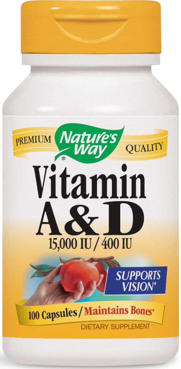 Vitamin A & D Dry 15,000 IU / 400 IU 100 caps by Nature's Way